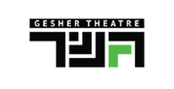 Gesher Theater logo, transfers to external website