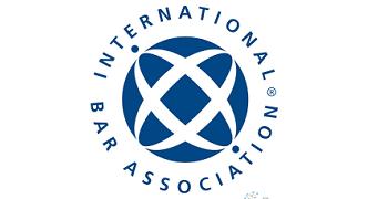 The International Bar Association logo, transfers to external website