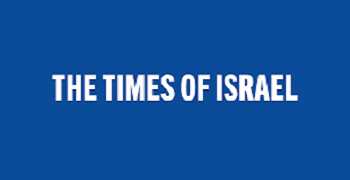THE TIMES OF ISRAEL logo, transfers to external website