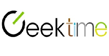 Geektime logo, transfers to external website